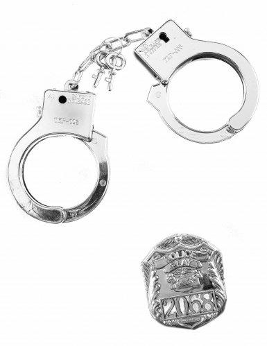 Kit poliziotto con manette e distintivo