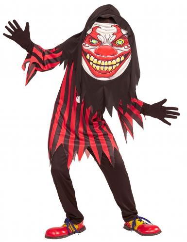 Costume da clown testa gigante per adolescente halloween