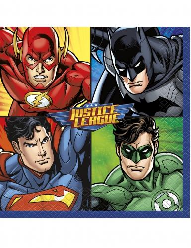 16 Tovaglioli in carta Justice League™