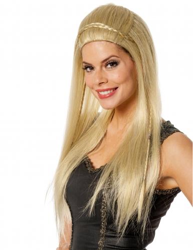 Parrucca bionda capelli lunghi per donna