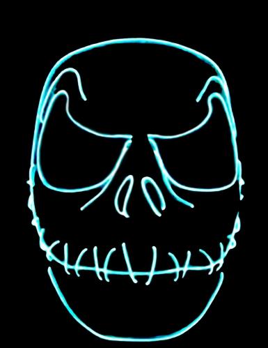 Maschera neon bocca cucita