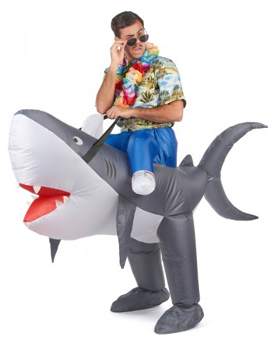 Costume da Squalo gonfiabile per adulto