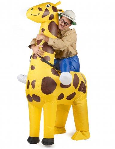 Costume Carry Me gonfiabile giraffa per adulto