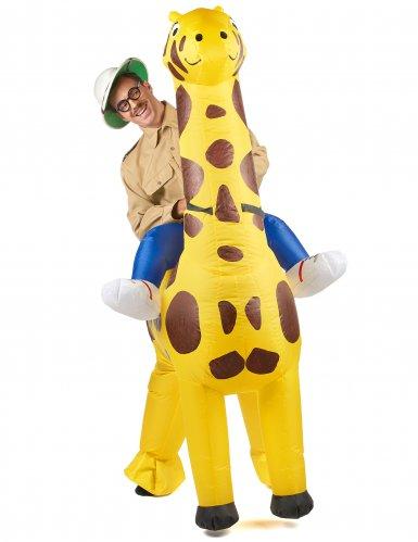 Costume Carry Me gonfiabile giraffa per adulto-1