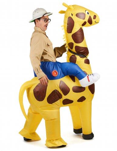 Costume Carry Me gonfiabile giraffa per adulto-2