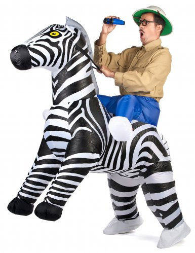 Costume carry me zebra per adulti