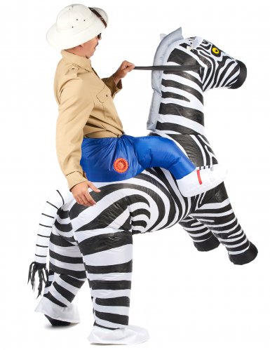 Costume carry me zebra per adulti-2