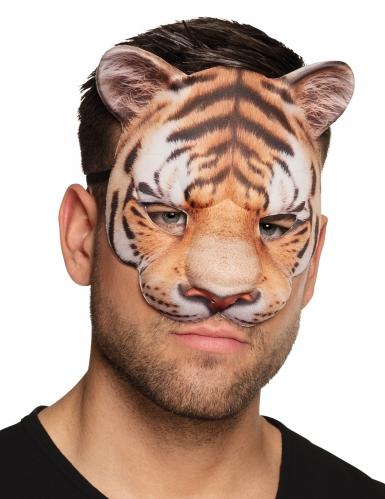 Maschera in cartone da tigre adulto