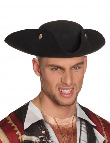 Cappello a tre punte nero per adulto