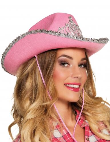 Cappello cowgirl rosa