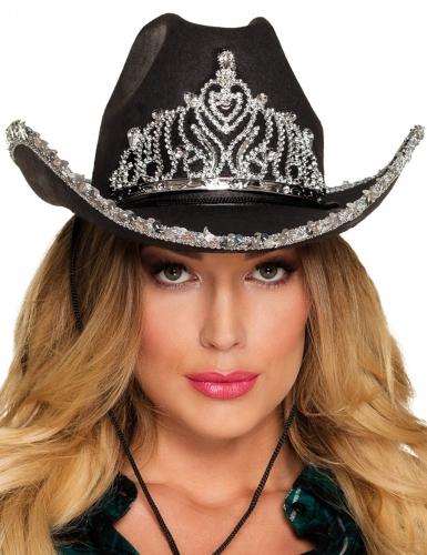 Cappello principessa cowgirl nero