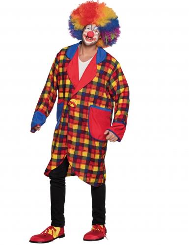 Giacca da clown quadratini adulto