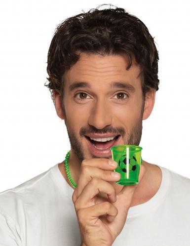Collana con bicchiere per shortini verde fosforescente -1