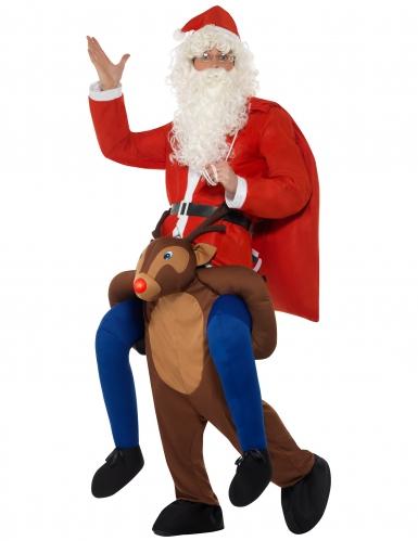 Costume Carry Me Babbo natale sulla renna per adulto-1