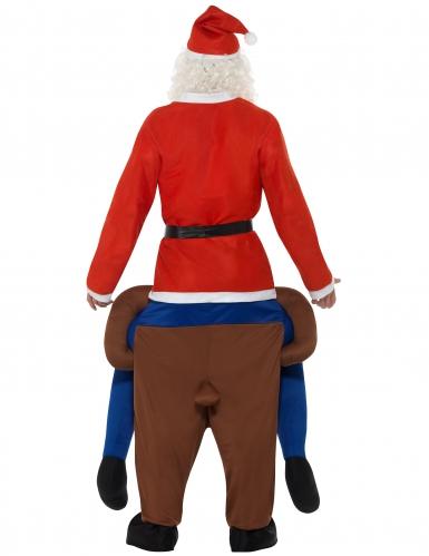 Costume Carry Me Babbo natale sulla renna per adulto-2