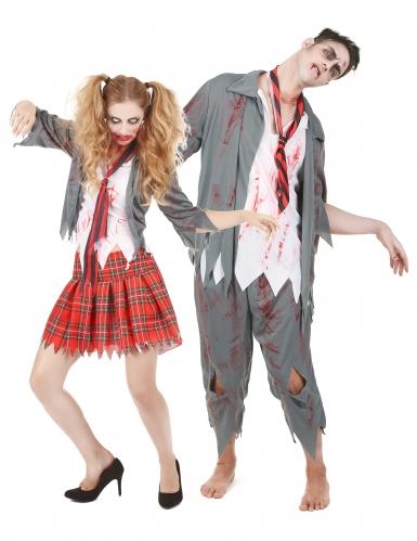 Costume da coppia zombie scolari halloween