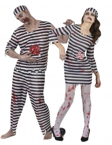 Vestito per coppia Carcerato Zombie per Halloween