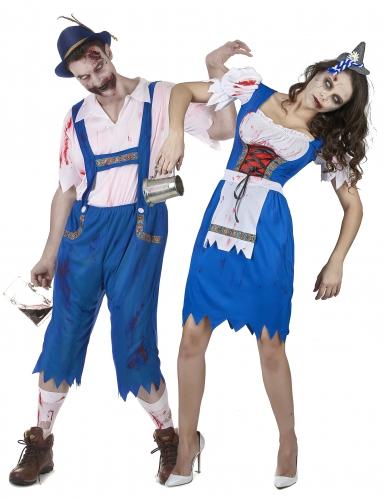 Vestito bavarese zombie coppia