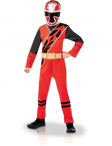 Costume classico Power Ranger™ per bambino Ninja Steel Rosso
