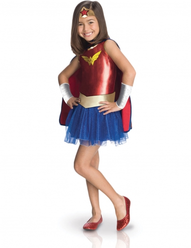 Costume classico da Wonder Woman™ Comic Book per bambina