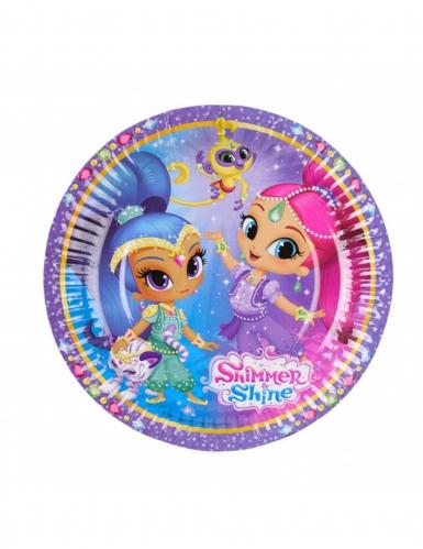 8 Piatti piccoli Shimmer e Shine™ 18 cm