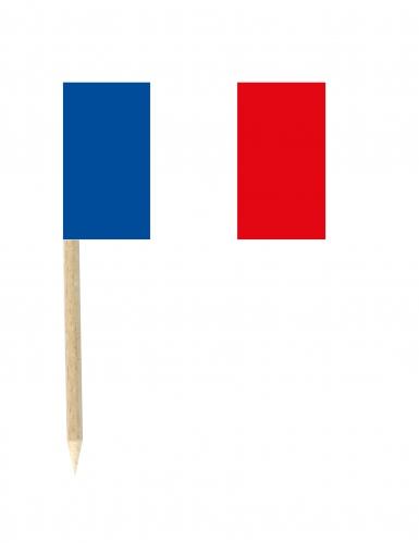 50 Bandierina Francia su stuzzicadenti