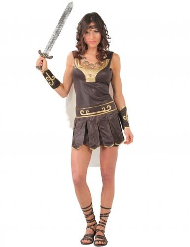 Costume da guerriera gladiatrice romana per donna