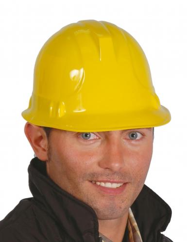 Casco giallo da operaio per adulto