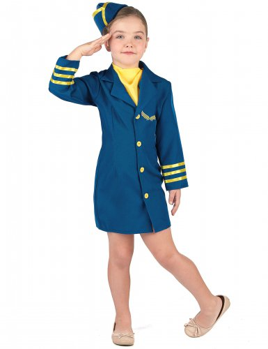 Costume da Hostess di volo per bambina