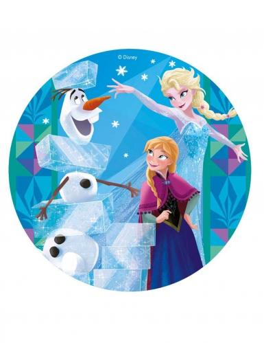 Disco in ostia Frozen™ con le principesse 20 cm