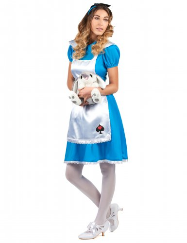 Costume da Alice bianco e blu per donna-1