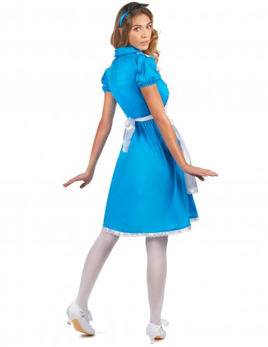 Costume da Alice bianco e blu per donna-2