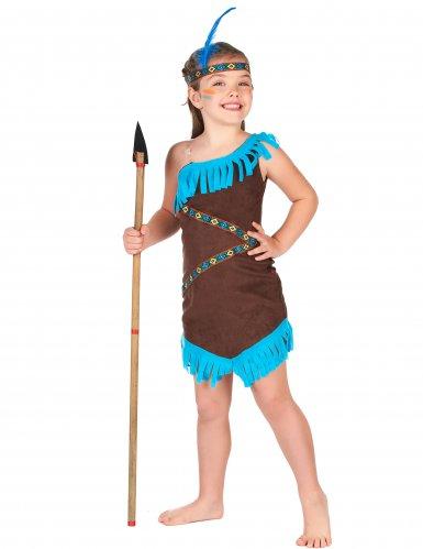 Costume da indiano marrone per bambina