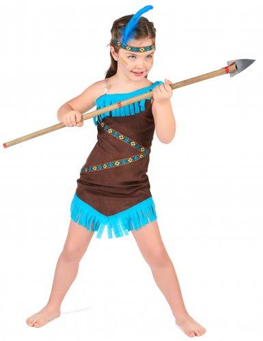 Costume da indiano marrone per bambina-1