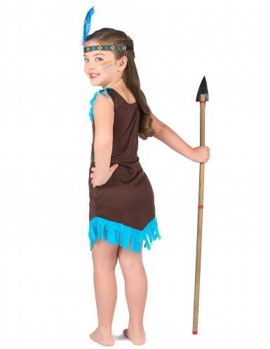 Costume da indiano marrone per bambina-2