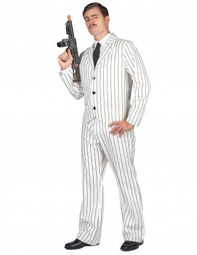 Costume da gangster in bianco per uomo-1