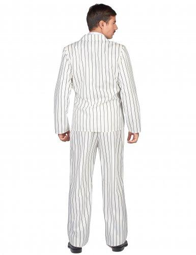 Costume da gangster in bianco per uomo-2