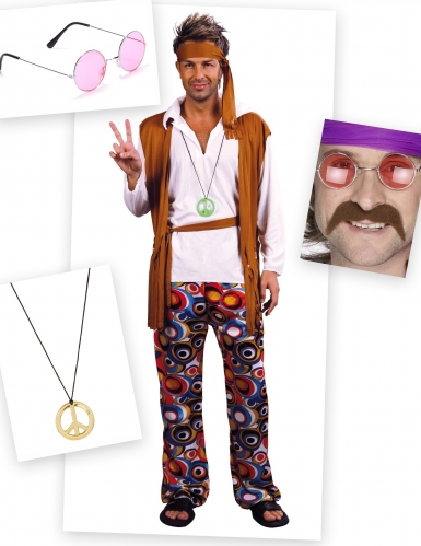 Set costume da Hippie per uomo