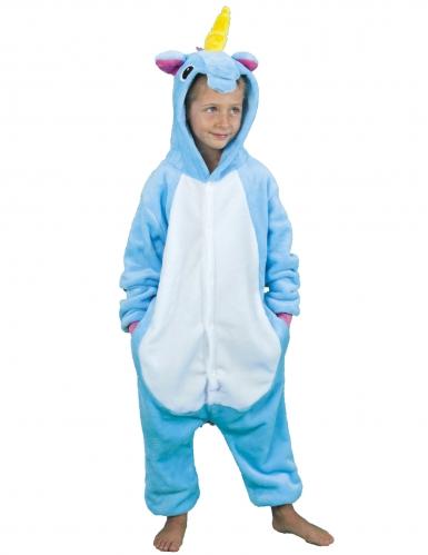 Costume da unicorno blu per bambino