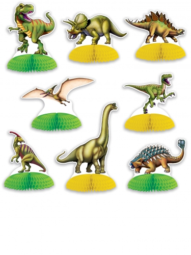 8 Mini centro tavola Dinosauri