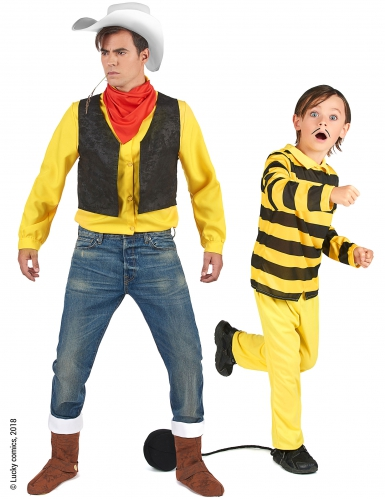 Costume coppia Lucky Luke™ e Dalton Padre e Figlio
