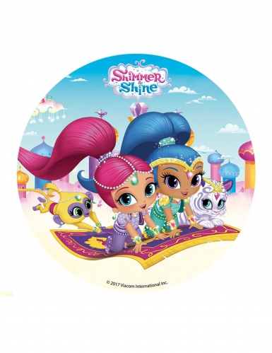 Disco di zucchero Shimmer and Shine ™ 16 cm