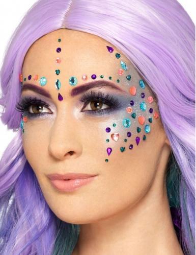 100 strass multicolore per viso