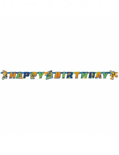 Ghirlanda in cartone Happy Birthday Tartarughe Ninja™ 180 x 15 cm