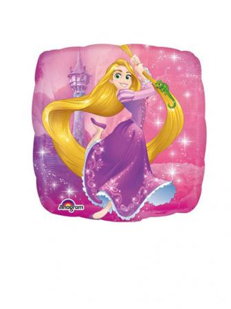 Palloncino in alluminio quadrato Rapunzel™ 23 cm