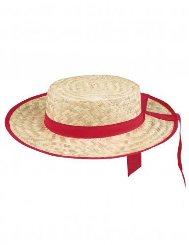 Cappello da gondoliere da fascia rossa per adulto-1