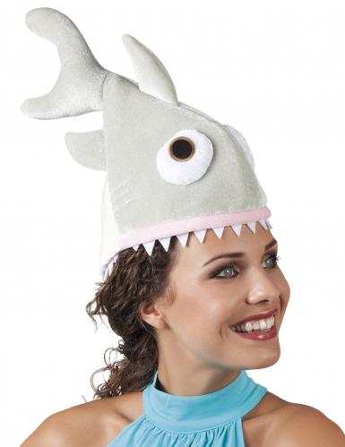 Cappello piccolo squalo in peluche per adulto