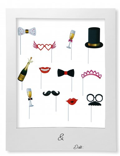 Kit Photobooth per matrimonio con cornice
