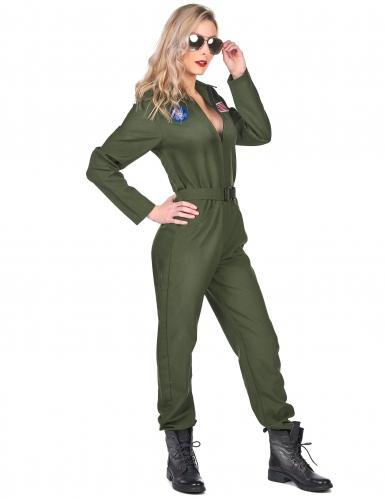 Costume da pilota d'aviazione per donna-1