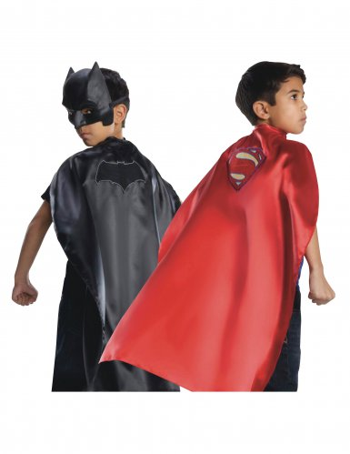Mantello reversibile Batman™ e Superman™ Justice League™ bambino